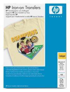 HP Iron-On T-Shirt Transfers, A4, 170g, 12 ks