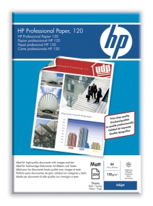 HP Professional Inkjet, A4, mat, 120g, 200 ks
