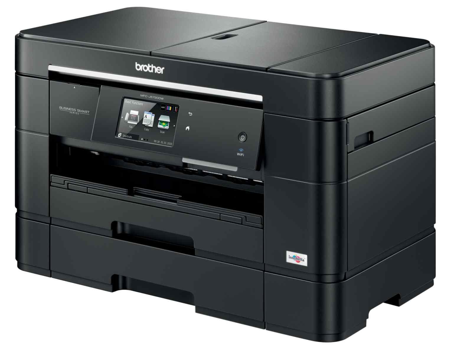 BROTHER multifunkce inkoustová MFC-J5720DWYJ1 - A3, A4 sken DUAL, 35ppm, 128MB 1200x6000 USB LAN WiFi dup 50ADF 2x250lis