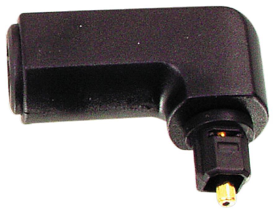 Valueline OPT-90PLUG - Digital Audio adaptér Úhlový 90° Toslink (M) - Toslink zásuvka, černá