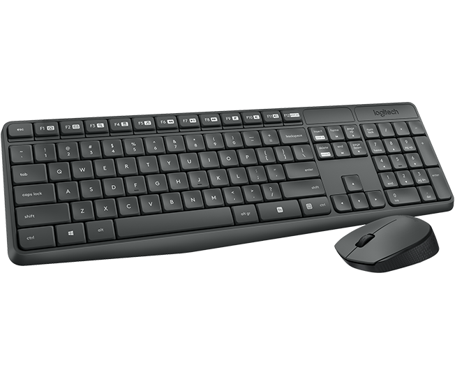 Logitech bezdrátová sada klávesnice a myši MK235, US