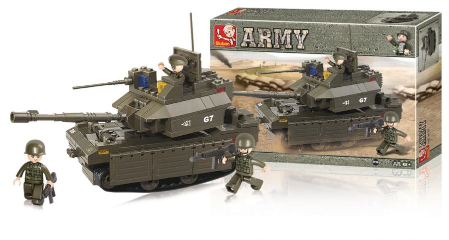 Sluban M38-B0287 - Army Series - Tank M1A2 Abrams