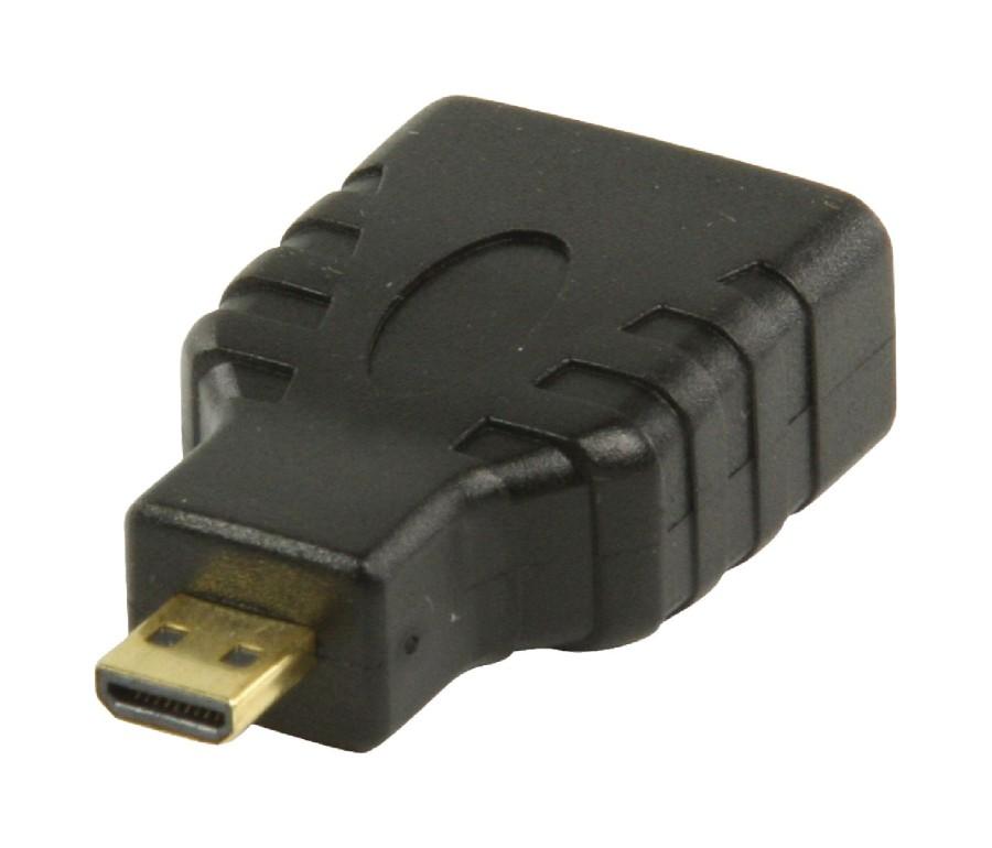 Valueline HDMI™ adaptér s konektory HDMI™ mikro – HDMI™ vstup, černý