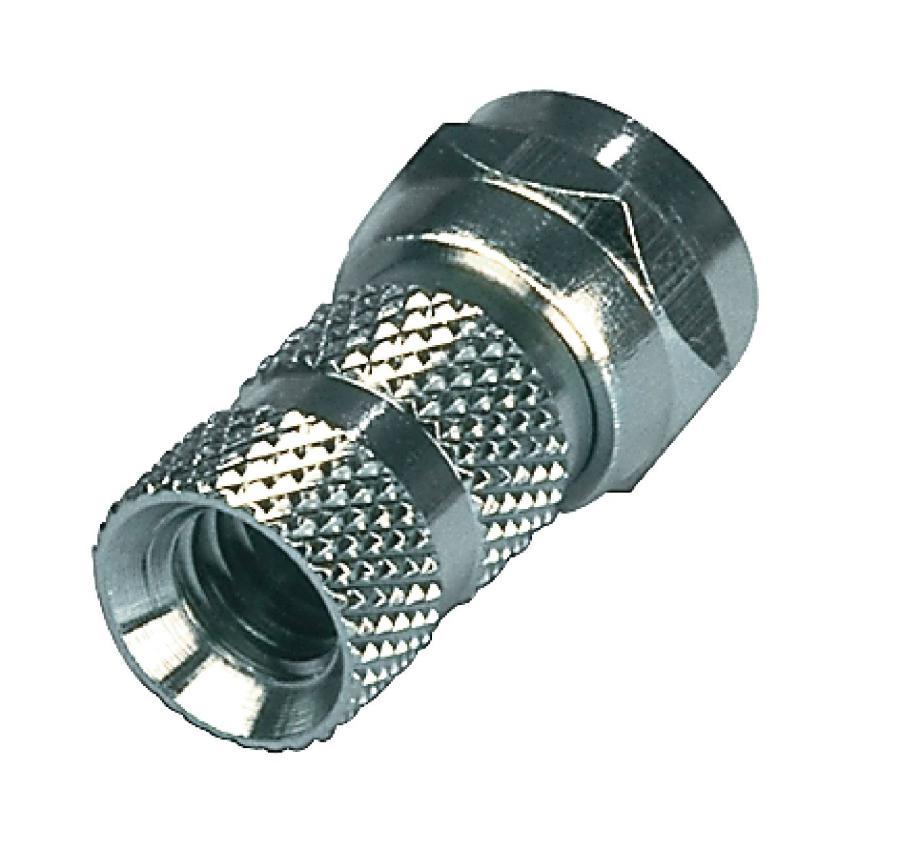Valueline FC-012 - F-Konektor 5.5 mm zástrčka Kov Stříbrná