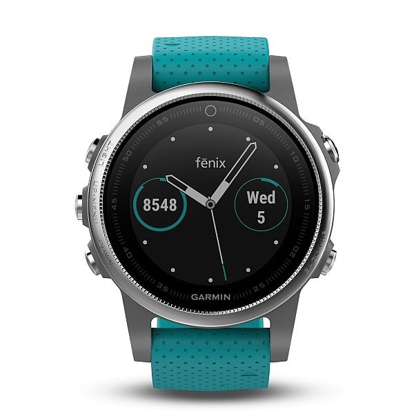 Garmin fenix5S Silver Optic, Blue band