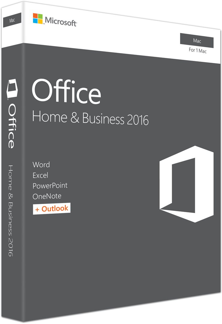 Office Mac Home Business 1PK 2016 Slovak EuroZone Medialess