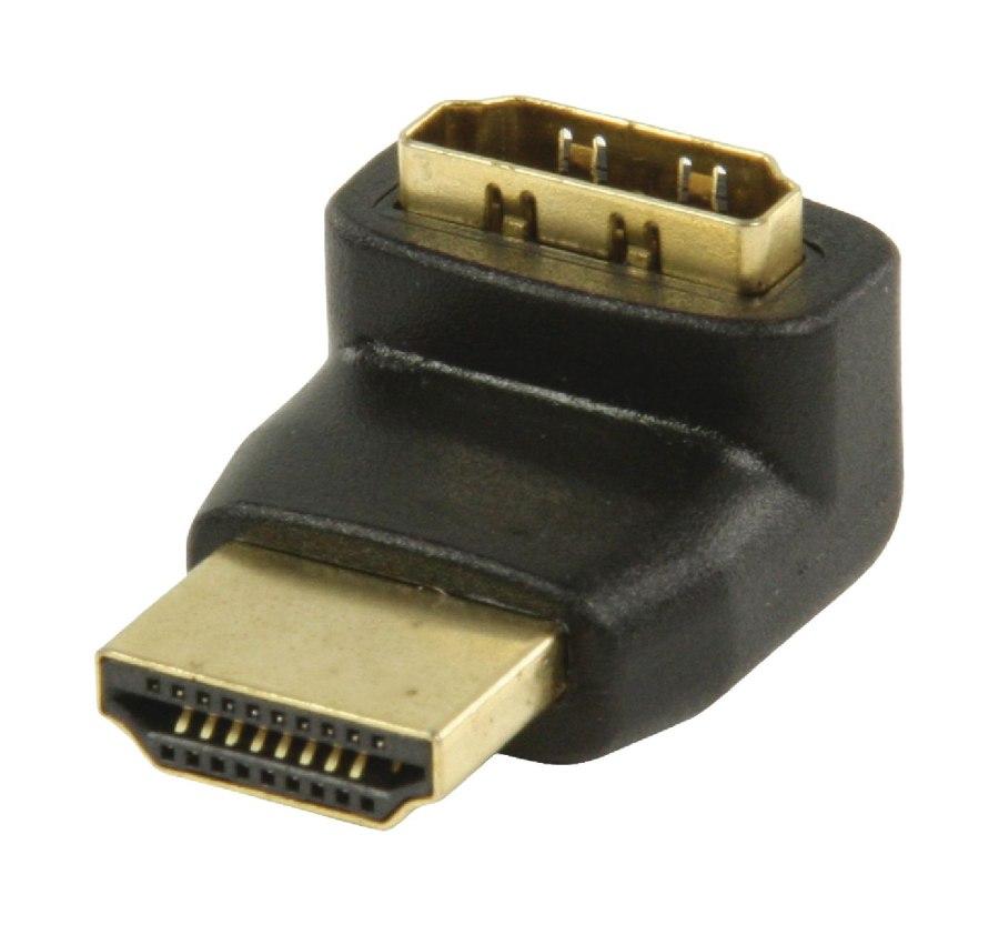 Valueline VGVP34902B - adaptérem High Speed HDMI s Ethernetem Úhlový 270° HDMI Konektor - HDMI Vstup, černá