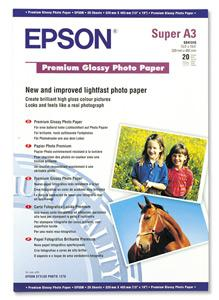 Papír Epson Premium Glossy Photo | 255g | A3+ | 20listů