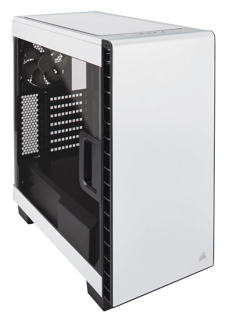 Corsair Carbide Clear 400C Windowed PC herní skříň, ATX Micro/Mini, bílo-černá