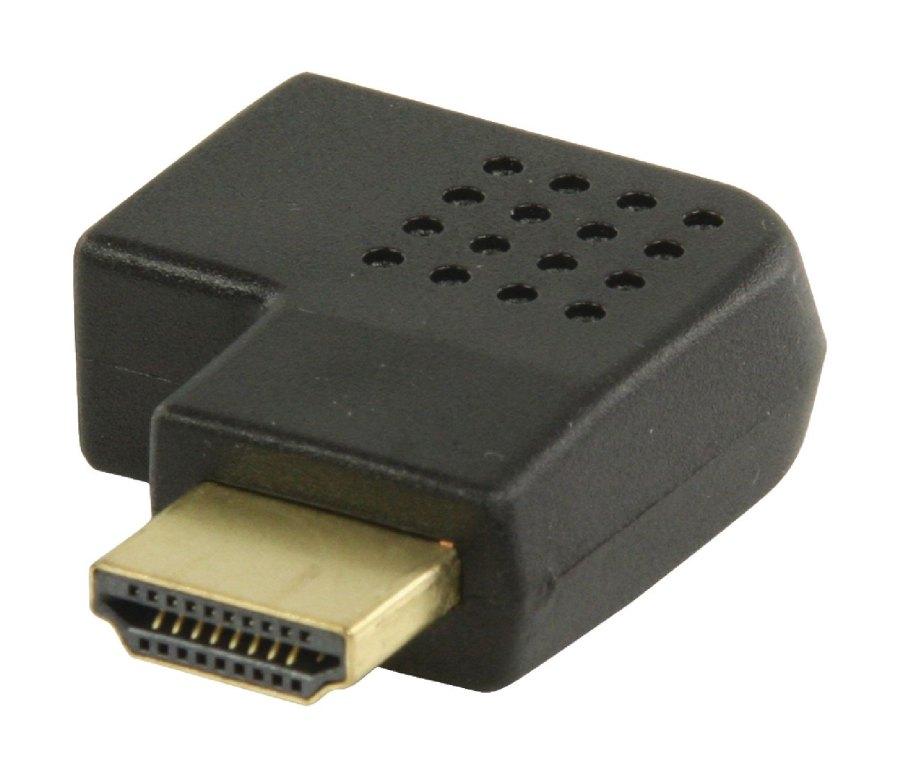 Valueline adaptér HDMI™ s konektory HDMI™ úhlový pravý – HDMI™ vstup, černý