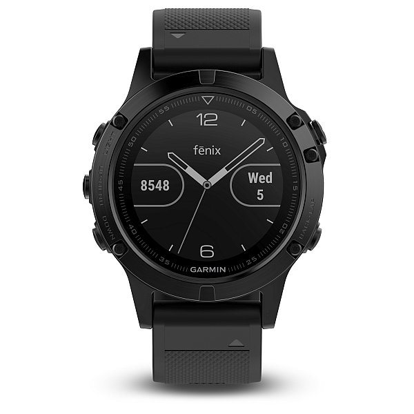 Garmin fenix5 Sapphire Black Optic, Black band