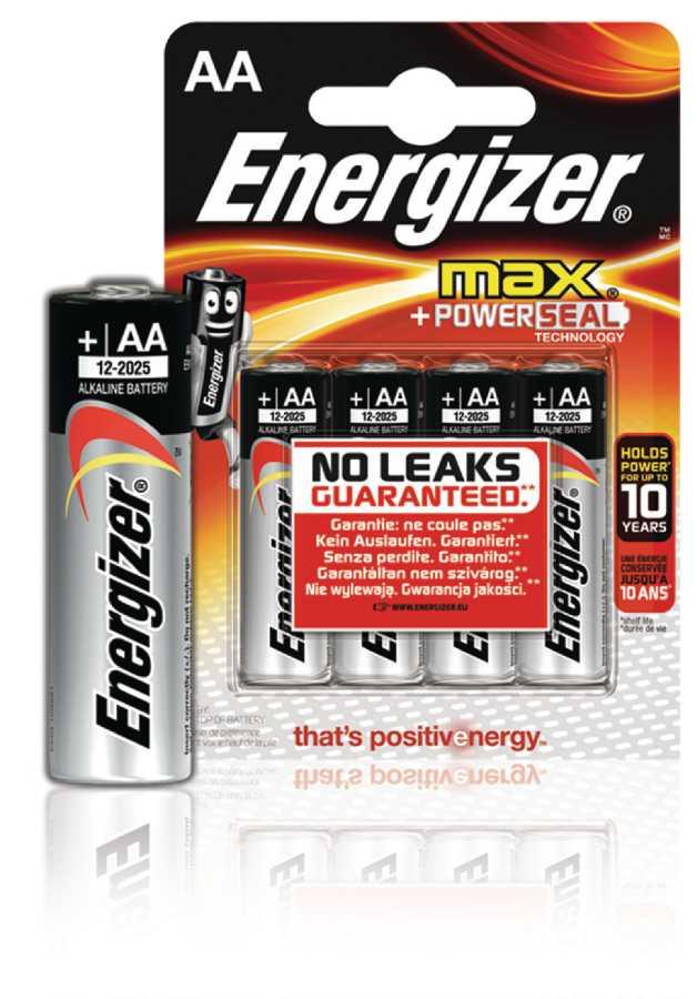 Energizer EN-E300112500 - Alkalická Baterie AA 1.5 V Max, 4 kusy
