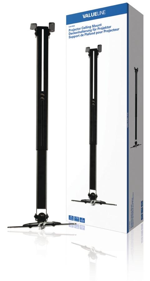 Valueline VLM-PM20 - Stropní držák Projektoru Full Motion 10 kg, černá