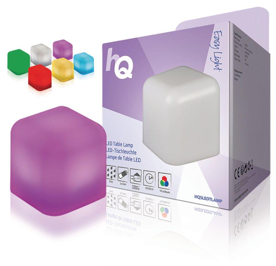 HQ HQSLEDTLAMP - LED Náladová Stolní Lampa Bílá / RGB