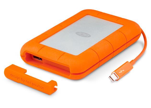 LaCie externí SSD Rugged v2 Thunderbolt s kabelem 500GB, 2.5'' USB 3.0, odolný