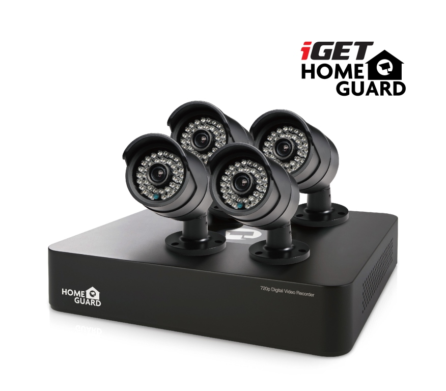 iGET HGDVK46704 - CCTV 4CH DVR + 4x HD kamera 720p