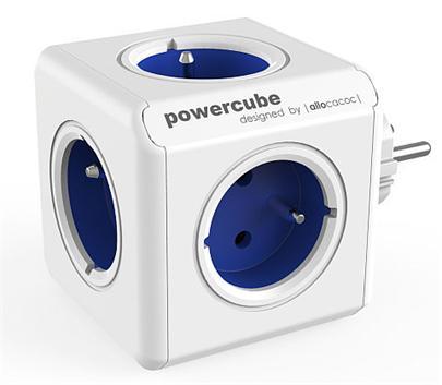 Zásuvka PowerCube ORIGINAL, Blue, 5-ti rozbočka