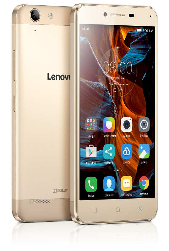 "Lenovo Smartphone K5 Dual SIM/5,0"" IPS/1280x720/Octa-Core/1,4GHz/2GB/16GB/13Mpx/LTE/Android 5.1/Gold"