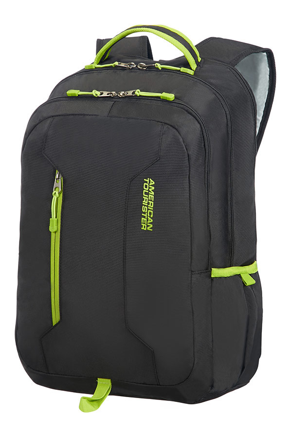 "American Tourister URBAN GROOVE UG4 LAPT. BACKPACK 15.6"" BLACK/LIME GREEN"