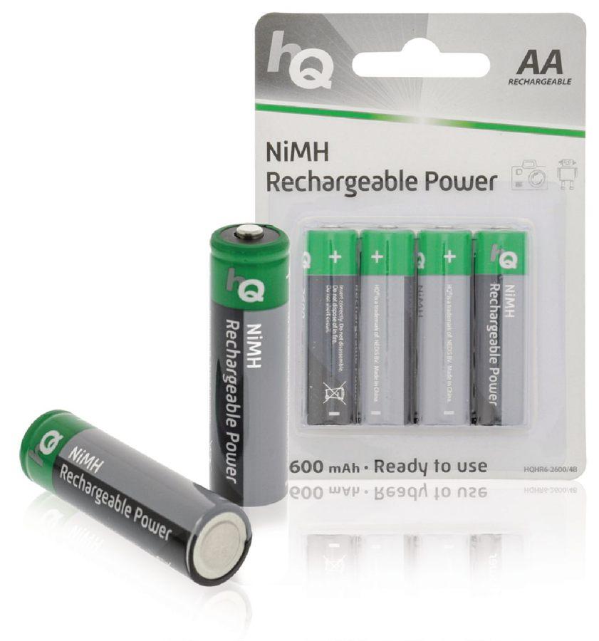 HQ AA 2600 mAh - dobíjecí NiMH baterie, 4 kusy