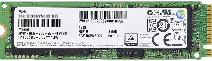 Samsung SSD SM951 256GB M.2 PCIe 3.0 - OEM (2150MB/s; 1200MB/s), 80mm