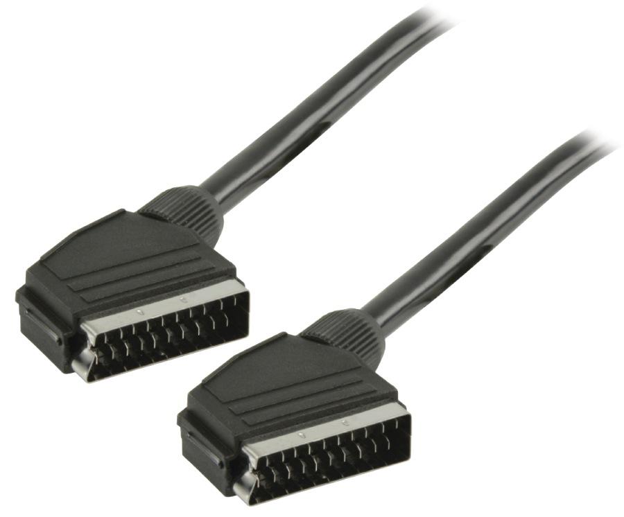 Valueline VLVP31000B100 - SCART Kabel SCART zástrčka - SCART zástrčka 10.0 m, černá