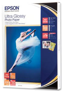 EPSON paper 13x18 - 300g/m2 - 50sheets - photo ultra glossy