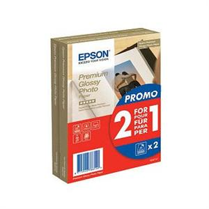 EPSON paper 10x15 - 255g/m2 - 2x40sheets - photo premium glossy (2 for 1 PROMO)