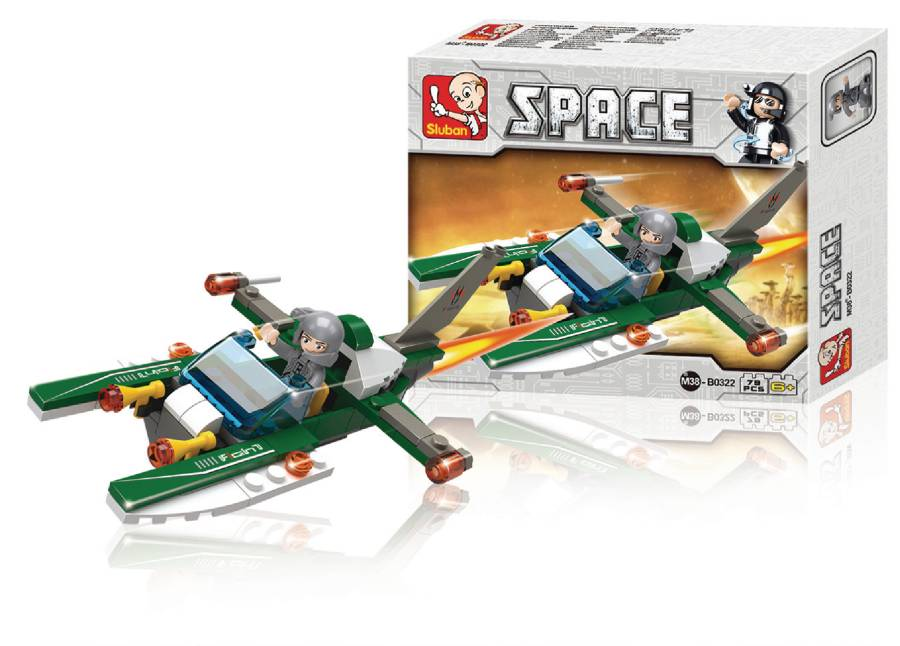 Sluban stavebnice vesmírná loď - M38-B0322