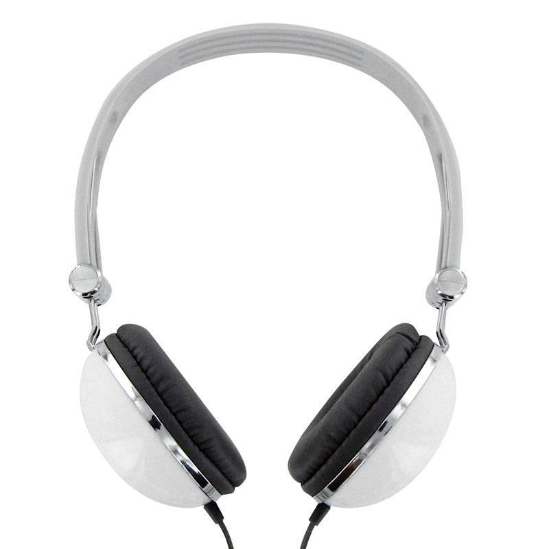 4World Stereofonické sluchátka, s pohodlnými náušníky ''Colors'', bílé