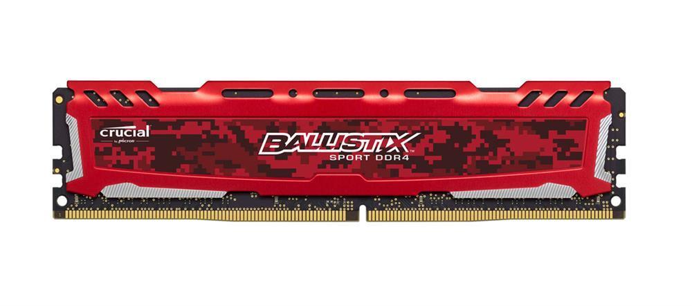 4GB DDR4-2400MHz Crucial Ballistix Sport LT Red CL16 SRx8 uDIMM