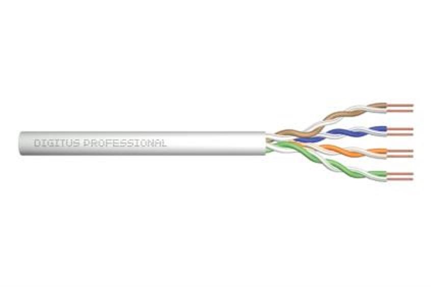 ASSNET250 CAT 6 U-UTP instalační kabel, drát, délka 305 m, Papírový box, AWG 23/1, - poškozený obal