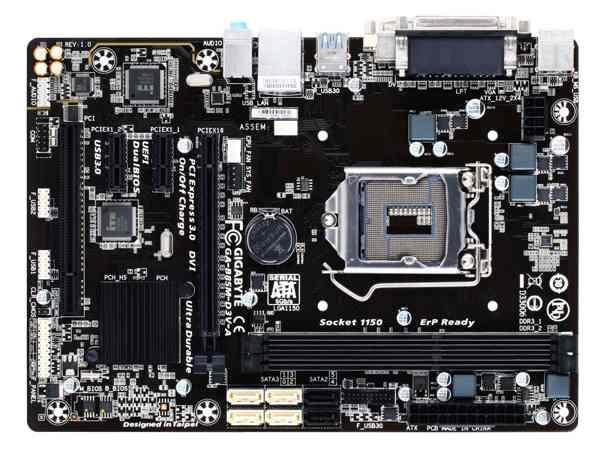 Gigabyte GA-B85M-D3V-A, B85, DualDDR3-1600, SATA3, DVI, D-Sub, mATX