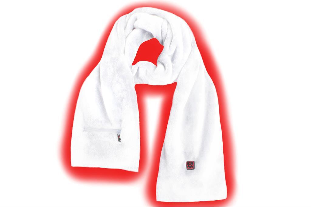SUNEN Glovii - Vyhřívaný termoaktivní šátek, velikost UNI, bílý