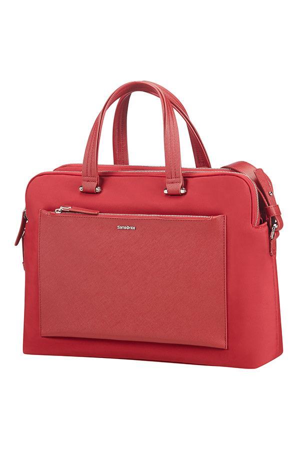 Bag bailhandle organised SAMSONITE 85D00004 ZALIA 14,1'' comp, pock. tblt, red