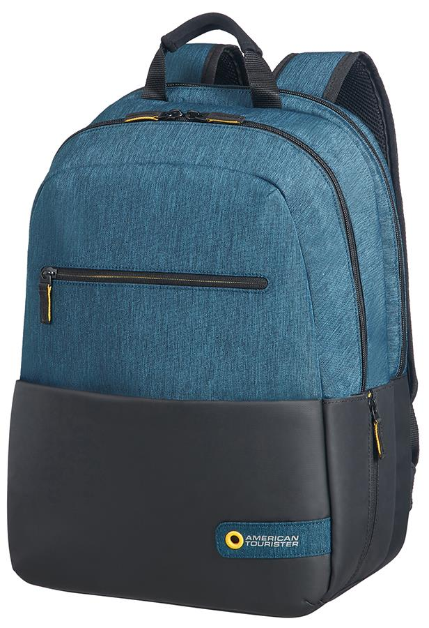 Backpack AT by SAMSONITE 28G19002 CD 15,6'' comp, doc, tblt, pockets, blck/blue