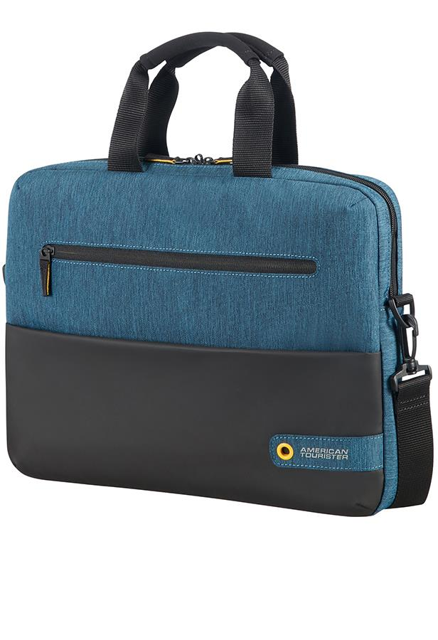 Bag AT by SAMSONITE 28G19003 CD 14,1'' comp, doc, tblt, pock, blk/blue