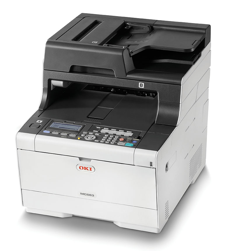 OKI MC563dn A4 30/30 ppm, 1200x1200dpi, 1GB RAM, RADF, USB 2.0 LAN, (Print/Scan/Copy/FAX)