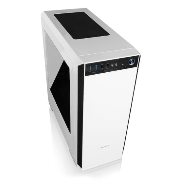 Modecom PC herní skříň OBERON WHITE MIDI, 2x USB 3.0, 2x USB 2.0, audio HD, bílá, bez zdroje