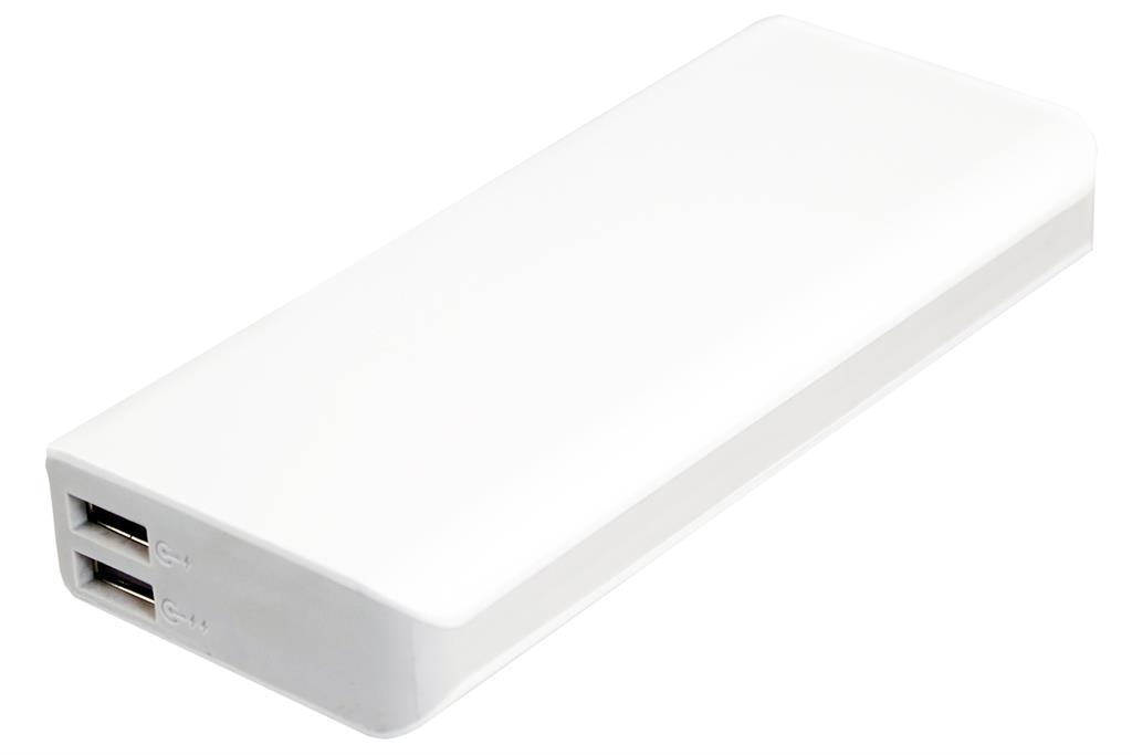 PowerNeed Sunen Přenosná nabíječka 13000mAh, 2x USB; tablet, smartphone; bílá
