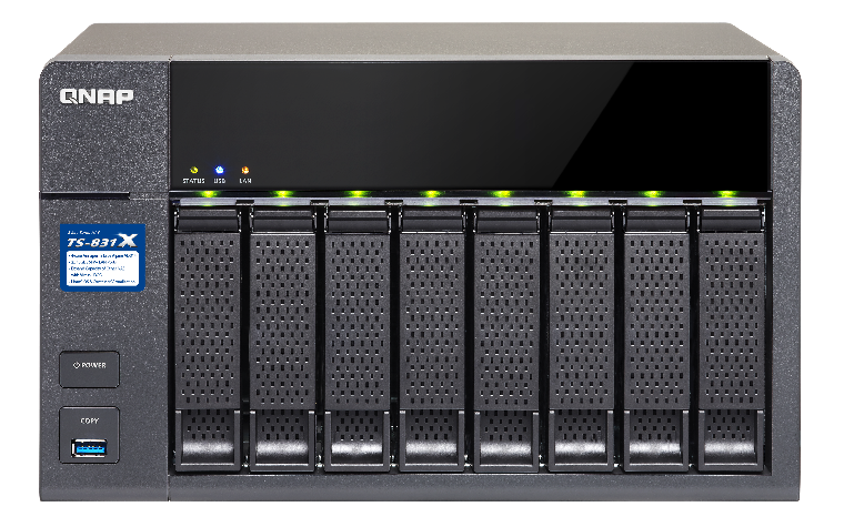 QNAP TS-831X-16G (1,4G/16GB RAM/8xSATA)