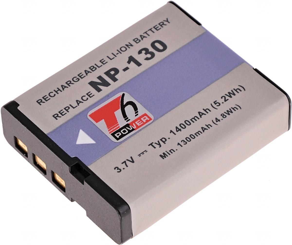 Baterie T6 power Casio NP-130, 1400mAh, černá