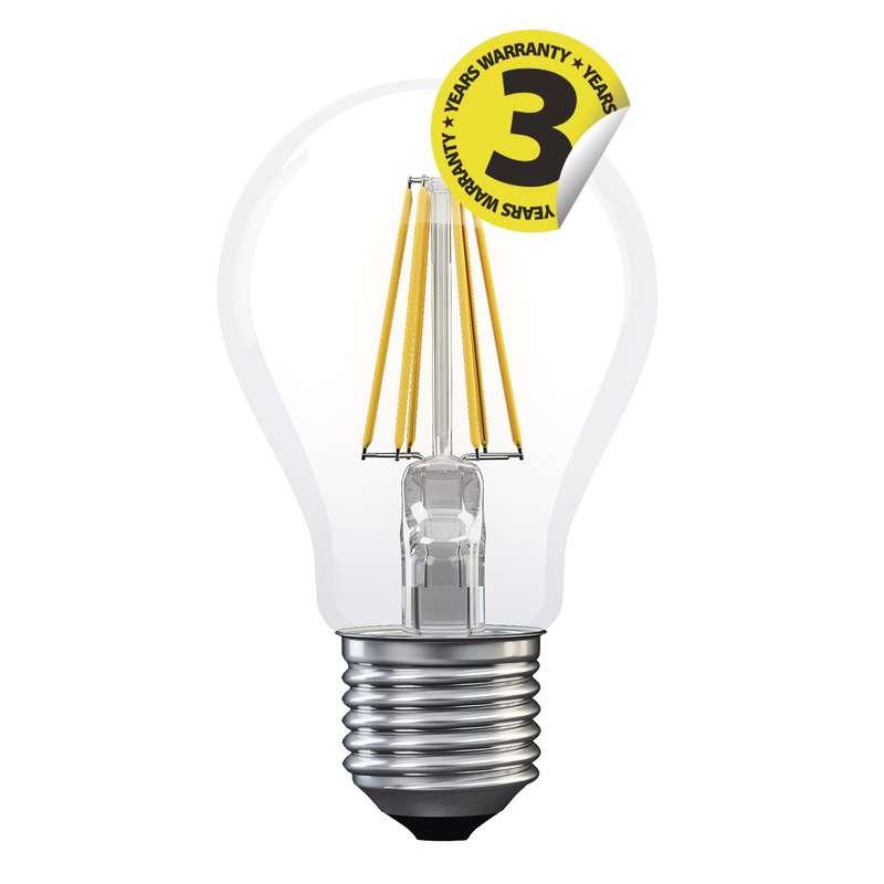 Emos LED žárovka Classic A60, 6W/50W E27, WW teplá bílá, 630 lm, Filament A+