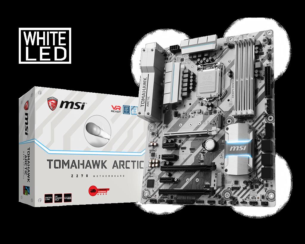MSI Z270 TOMAHAWK ARCTIC, LGA1151, 4*DDR4, 3*PCI-Ex16, 3*PCI-Ex1