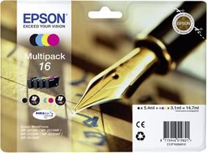 Bundle Epson T1626 CMYK Multi Pack | WF-2010/25x0