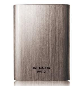 ADATA PV110 Power Bank 10400mAh (pro chytré telefony, tablety) Titanium