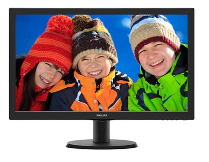 "Philips LCD 243V5QSBA 23,6""wide/1920x1080/8ms/10mil:1/VGA/DVI/HDMI/LED"