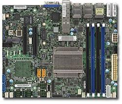 SUPERMICRO miniITX MB Xeon D-1518 (4-core), 4x DDR4 ECC reg DIMM,4xSATA,2x PCI-E 3.0 x8, M.2, 6x1GbE+2x10GbE SFP+, IPMI