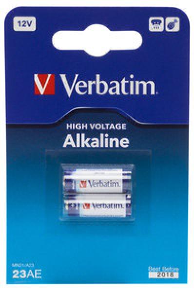 VERBATIM Alkalické baterie 23AE (MN21/A23) 12V 2 Pk