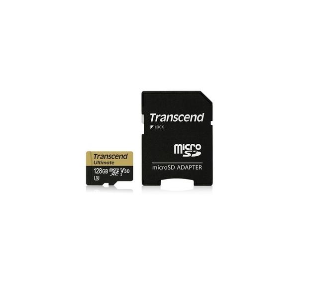 Transcend 128GB microSDXC UHS-I U3M Ultimate (V30) MLC paměťová karta (s adaptérem), 95MB/s R, 60MB/s W